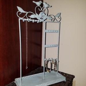 Jewelry - Teal lovebirds jewelry holder
